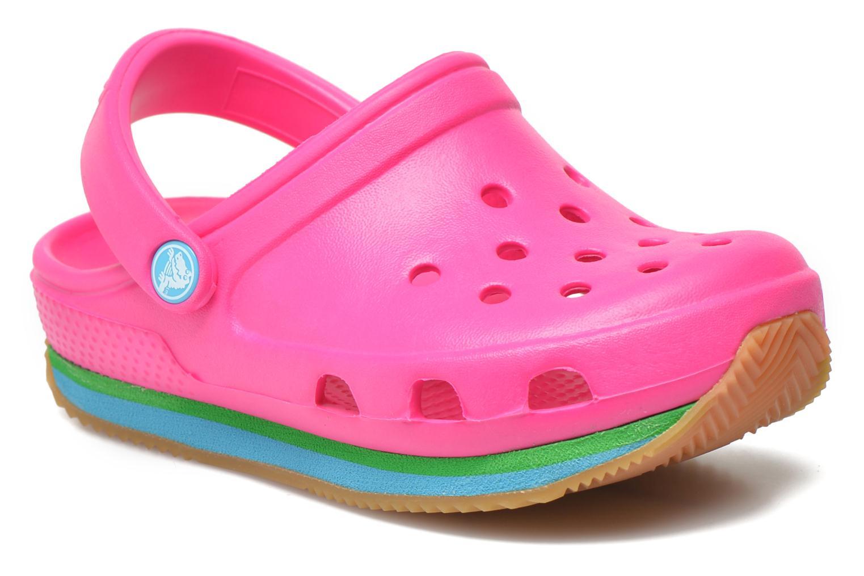 Sandales et nu-pieds Crocs Cros Retro Clog Kids Rose vue détail/paire