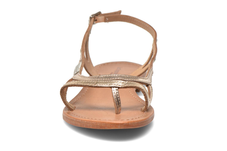 Sandaler Les Tropéziennes par M Belarbi Isatis Bronze och Guld bild av skorna på