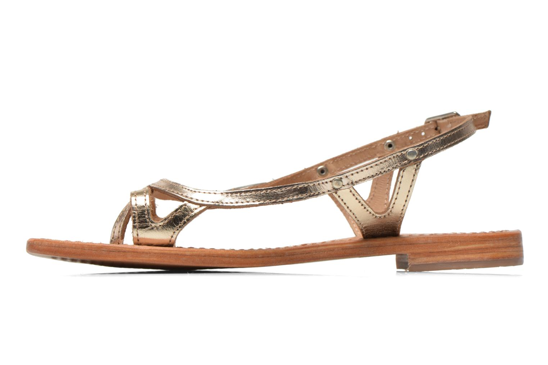Sandales et nu-pieds Les Tropéziennes par M Belarbi Isatis Or et bronze vue face