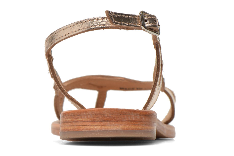 Sandales et nu-pieds Les Tropéziennes par M Belarbi Isatis Or et bronze vue droite