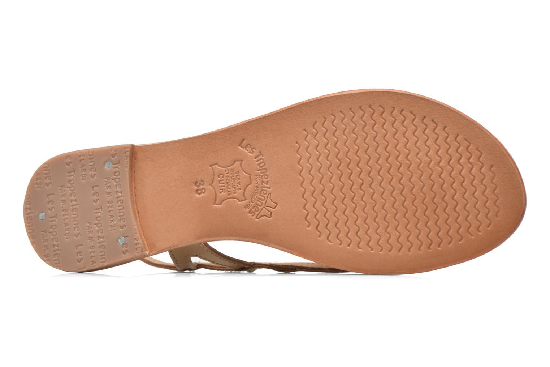 Sandales et nu-pieds Les Tropéziennes par M Belarbi Isatis Or et bronze vue haut