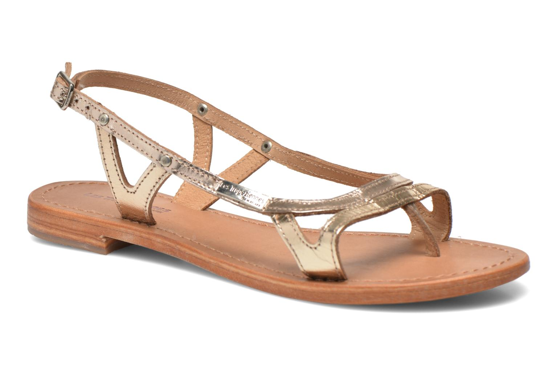 Sandales et nu-pieds Les Tropéziennes par M Belarbi Isatis Or et bronze vue détail/paire