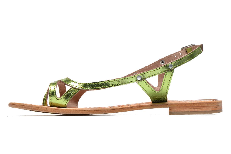 Sandales et nu-pieds Les Tropéziennes par M Belarbi Isatis Vert vue face