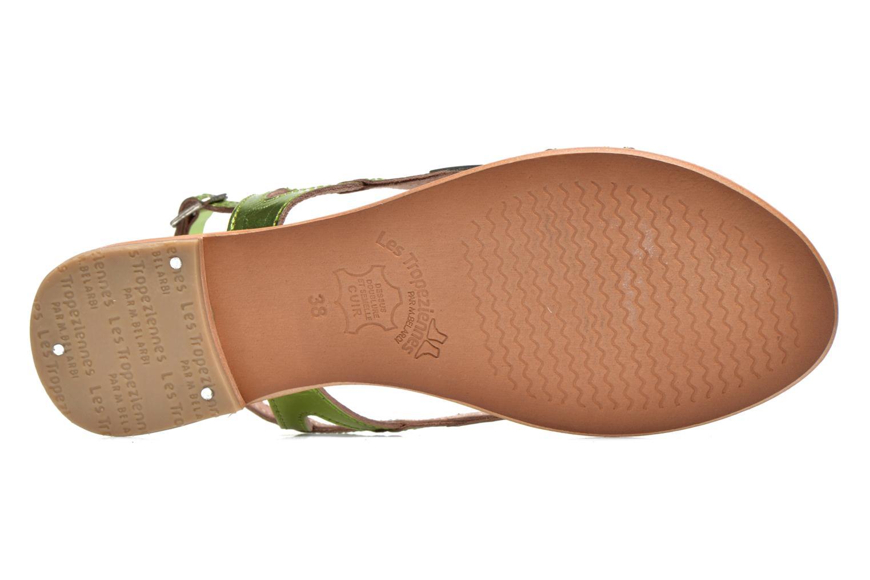 Sandales et nu-pieds Les Tropéziennes par M Belarbi Isatis Vert vue haut