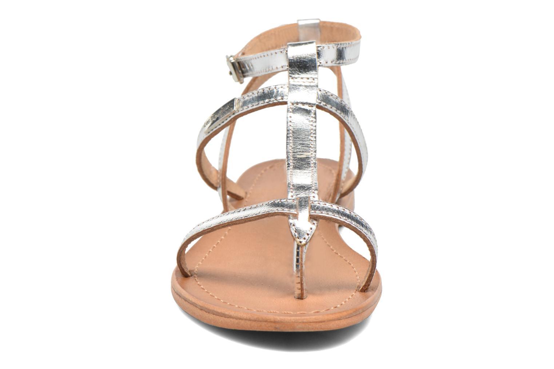 Sandalen Les Tropéziennes par M Belarbi Hilan silber schuhe getragen