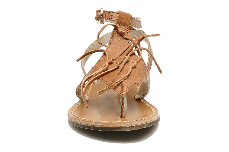 Sandales et nu-pieds Ramdam by GBB Bamako Marron vue portées chaussures