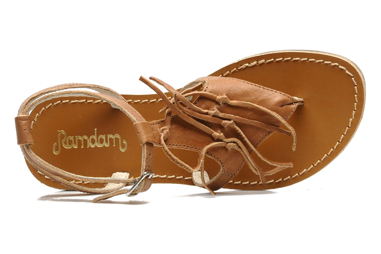 Sandales et nu-pieds Ramdam by GBB Bamako Marron vue gauche