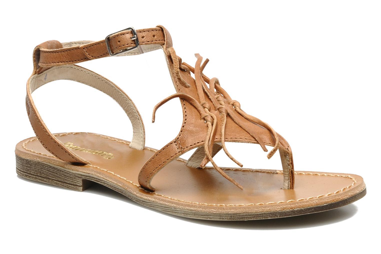 Sandales et nu-pieds Ramdam by GBB Bamako Marron vue détail/paire