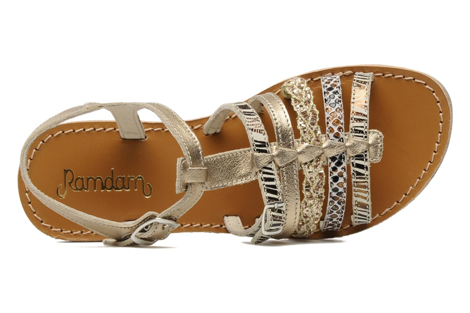 Sandals Ramdam by GBB Bangkok Bronze and Gold view from the left