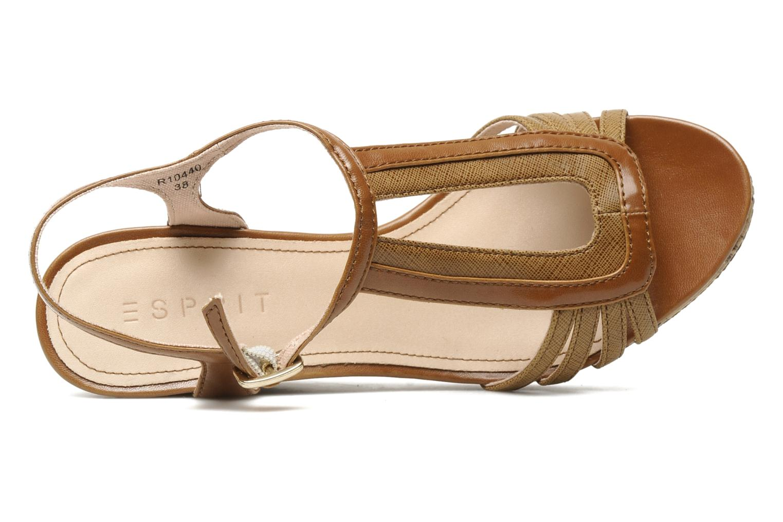 Sandali e scarpe aperte Esprit Julia Sandal Marrone immagine sinistra