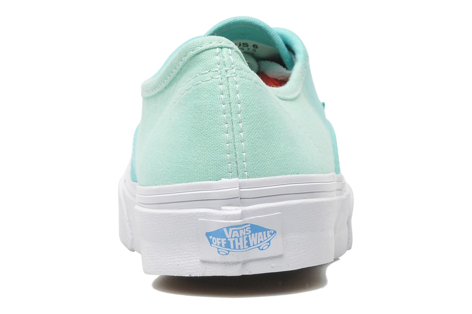 Baskets Vans Authentic Slim W Vert vue droite