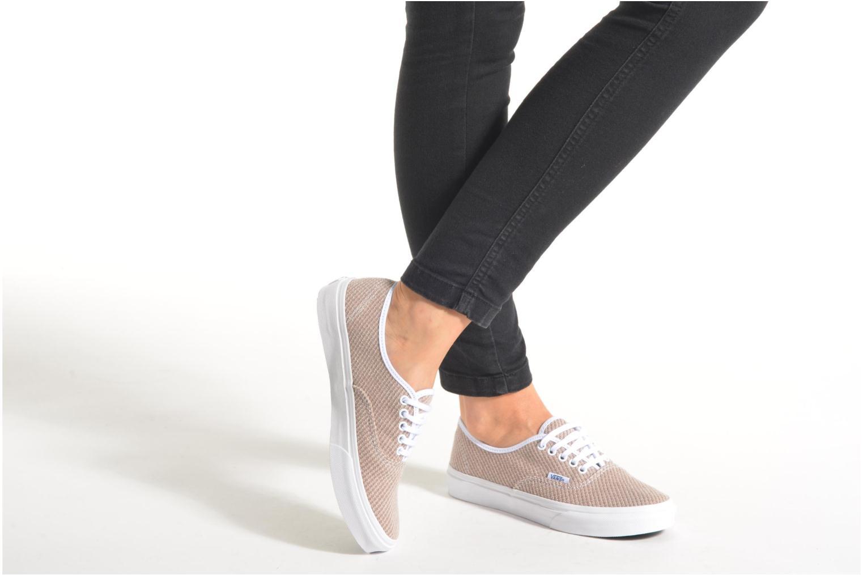 Sneaker Vans Authentic Slim W orange ansicht von unten / tasche getragen