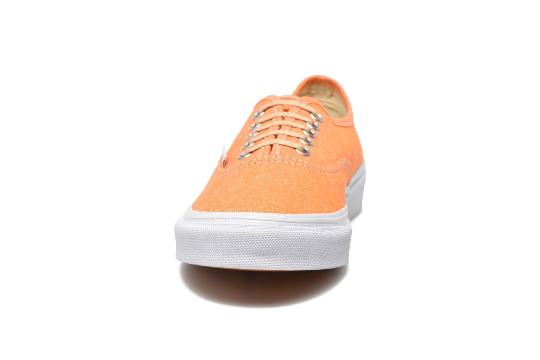 Sneaker Vans Authentic Slim W orange schuhe getragen