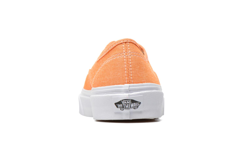 Sneaker Vans Authentic Slim W orange ansicht von rechts