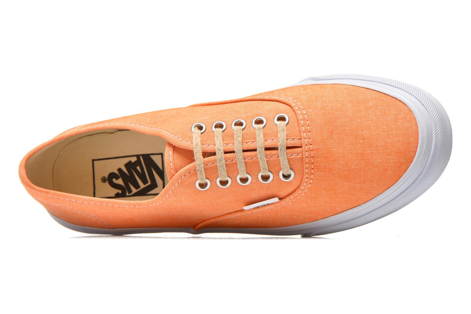 Baskets Vans Authentic Slim W Orange vue gauche