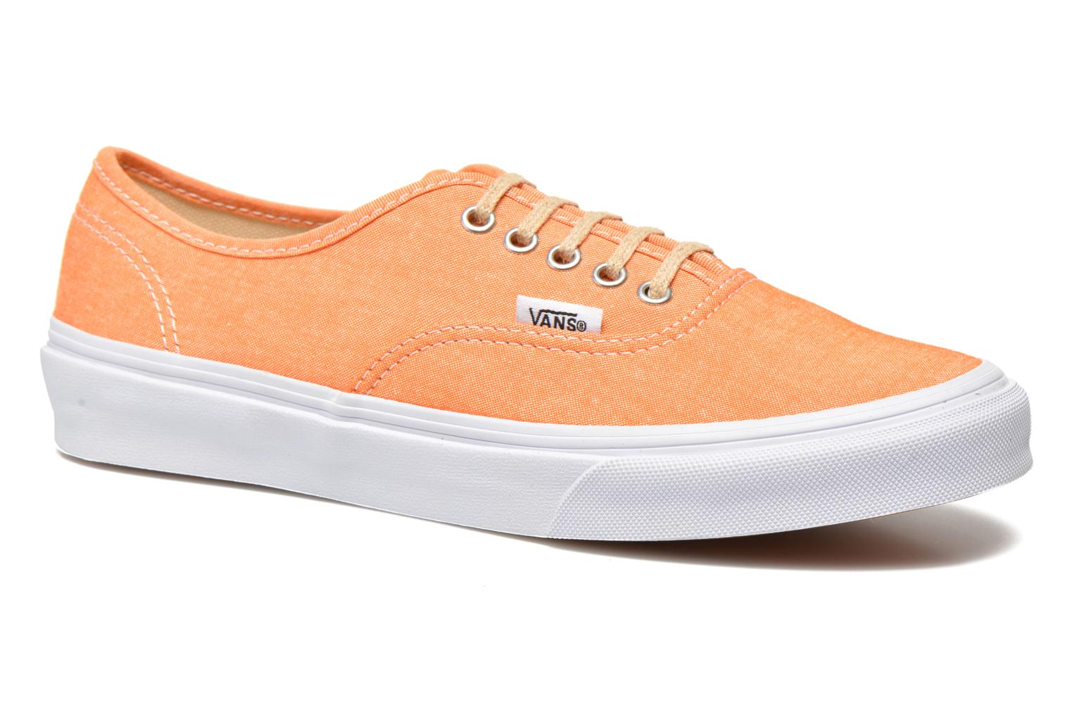 Baskets Vans Authentic Slim W Orange vue détail/paire