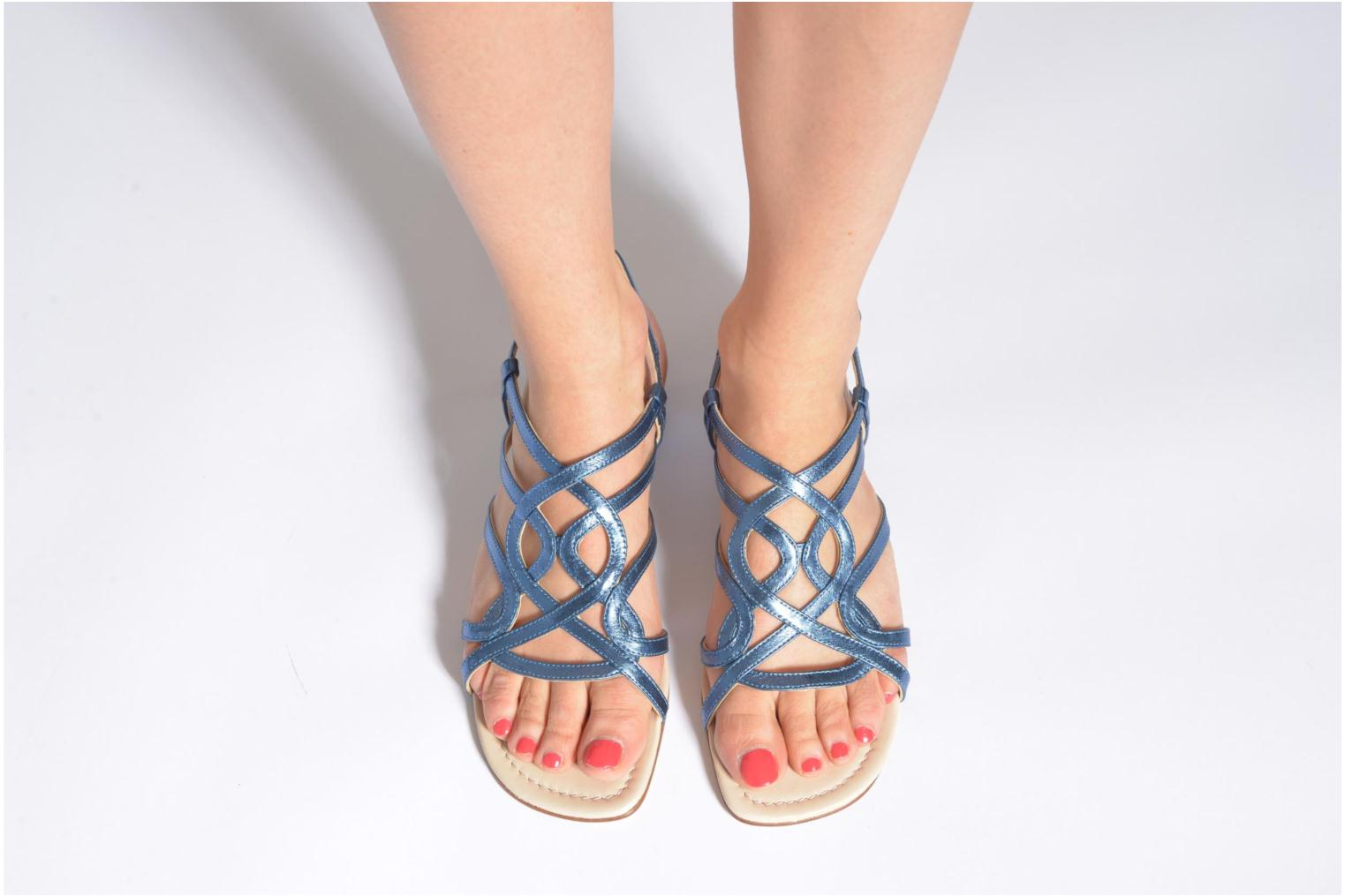 Sandals Anna Volodia Aplat Blue view from underneath / model view