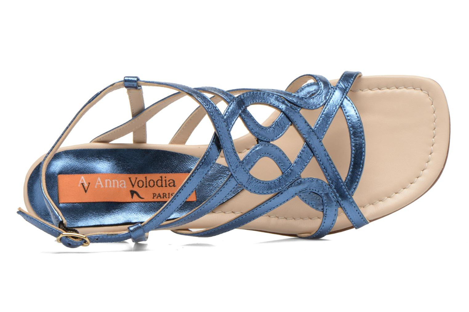 Sandals Anna Volodia Aplat Blue view from the left