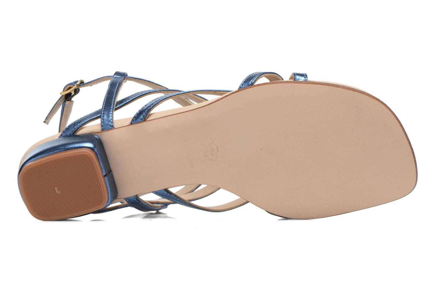 Sandals Anna Volodia Aplat Blue view from above
