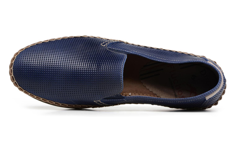 Slipper Fluchos Bahamas 8674 blau ansicht von links