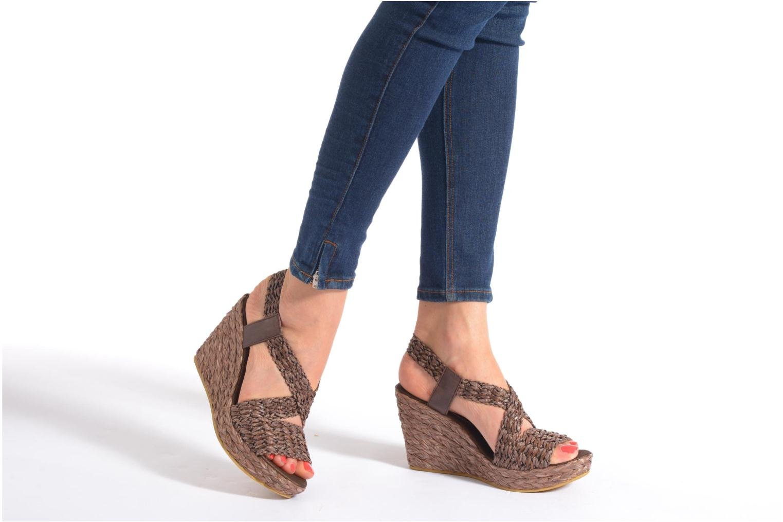 Sandales et nu-pieds Elizabeth Stuart Fuxy 310 Marron vue bas / vue portée sac