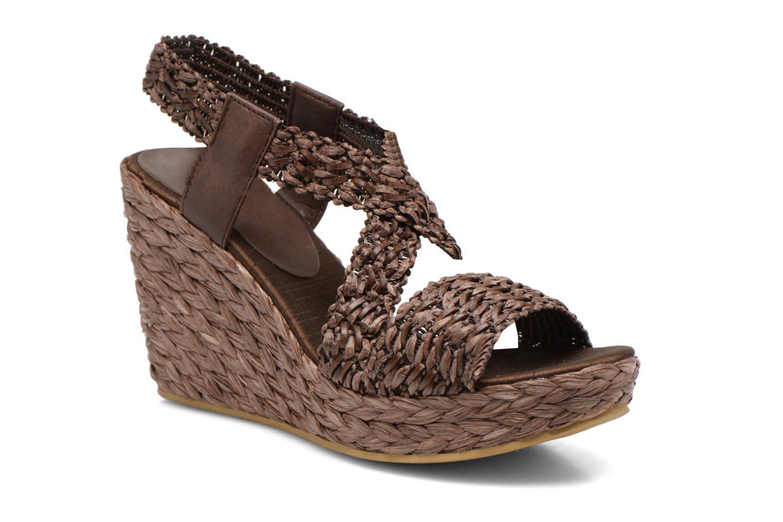 Sandales et nu-pieds Elizabeth Stuart Fuxy 310 Marron vue détail/paire