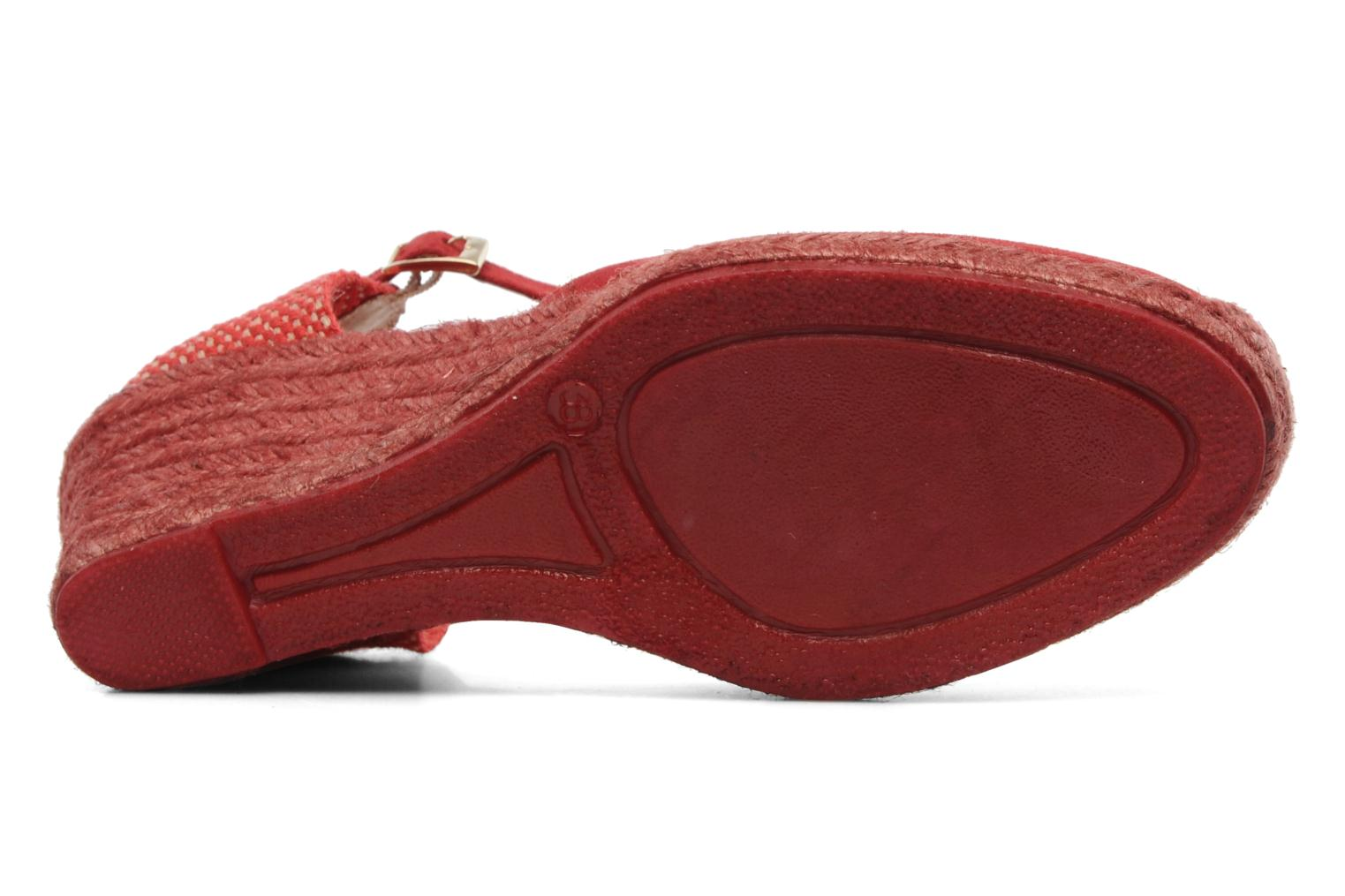 Sandals Elizabeth Stuart Volga 630 Red view from above