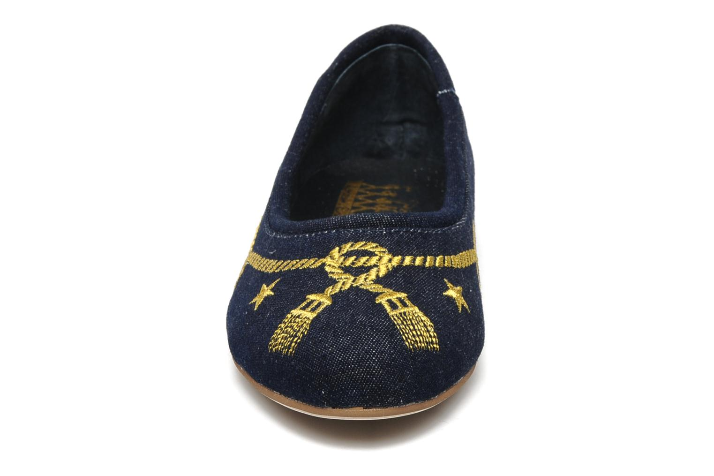 Ballerines F-Troupe ZOEL Bleu vue portées chaussures