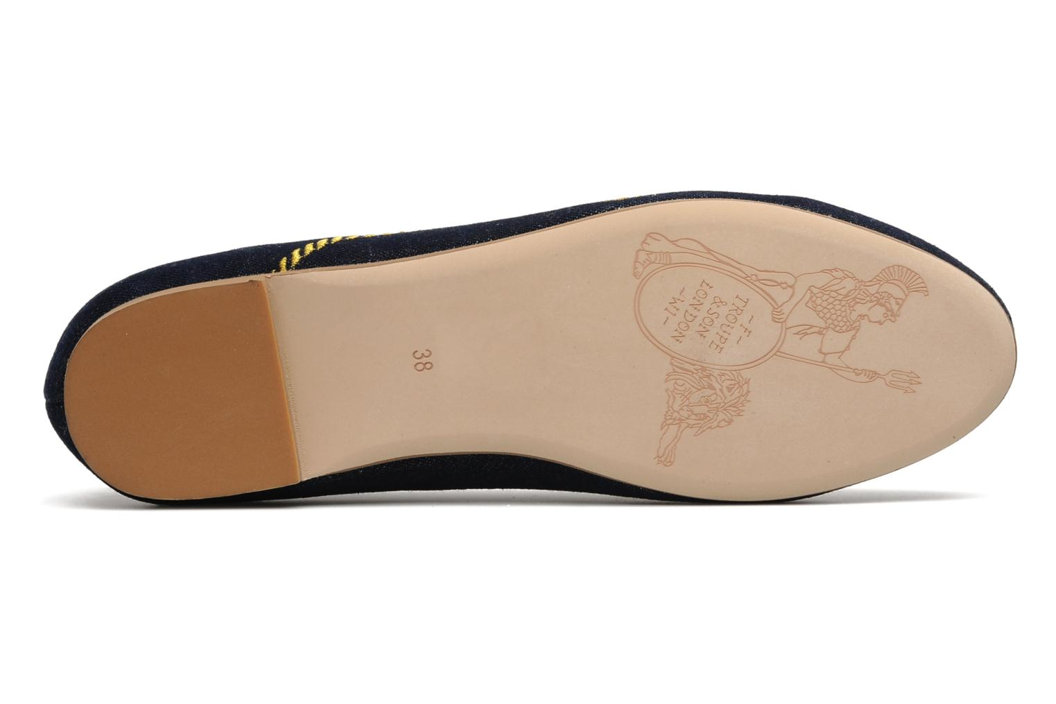 Ballet pumps F-Troupe ZOEL Blue view from above