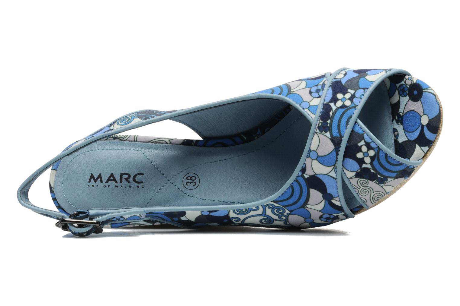 Sandals MARC MINOUCHE Blue view from the left