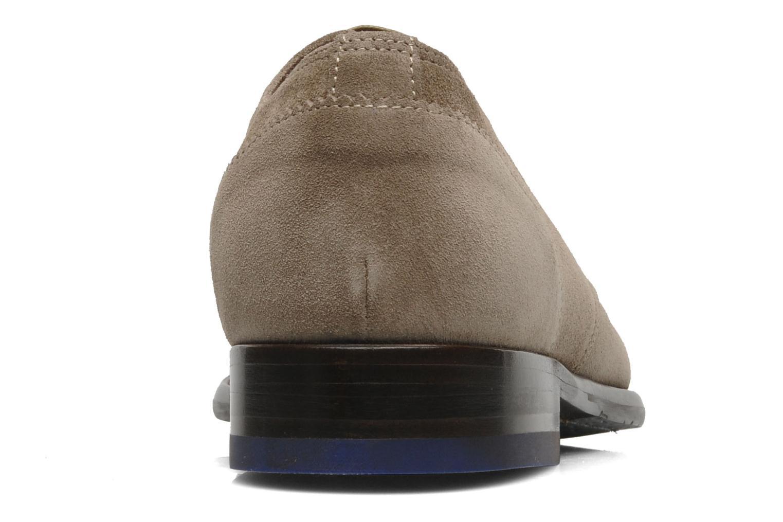 Zapatos con cordones Floris Van Bommel Rick Gris vista lateral derecha