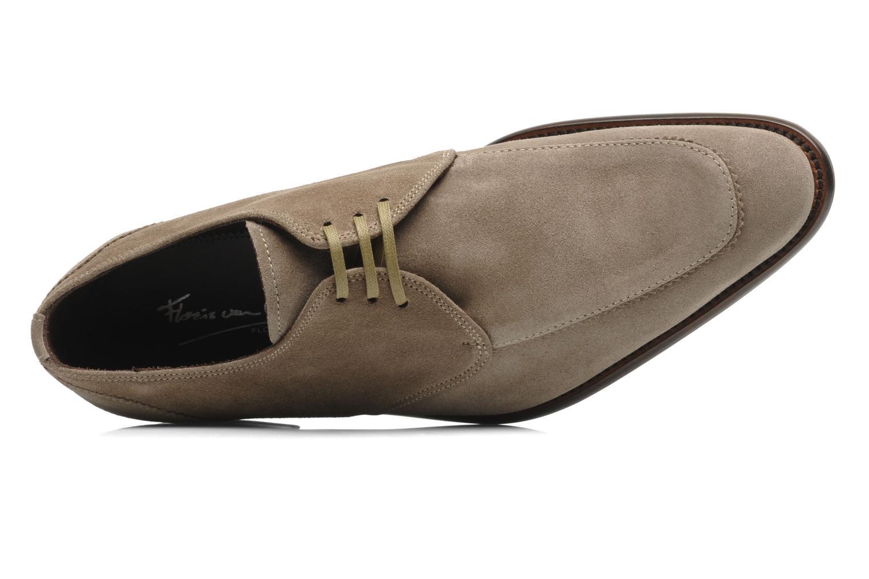 Zapatos con cordones Floris Van Bommel Rick Gris vista lateral izquierda