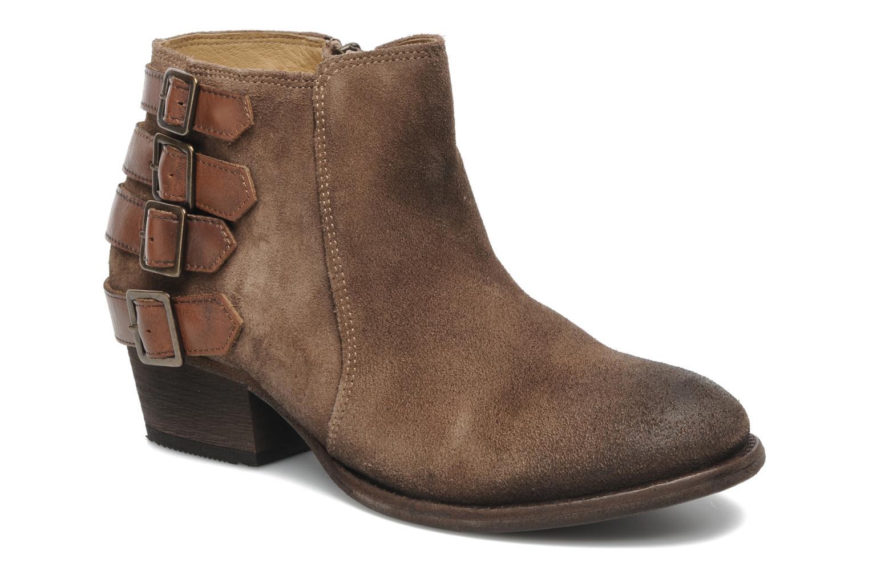 Ankelstøvler H By Hudson ENCKE Brun detaljeret billede af skoene