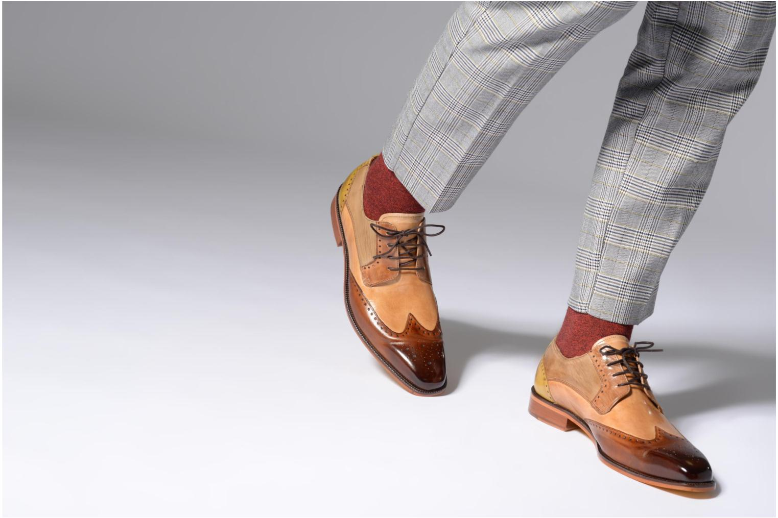Lace-up shoes Melvin & Hamilton Jeff 14 Brown view from underneath / model view