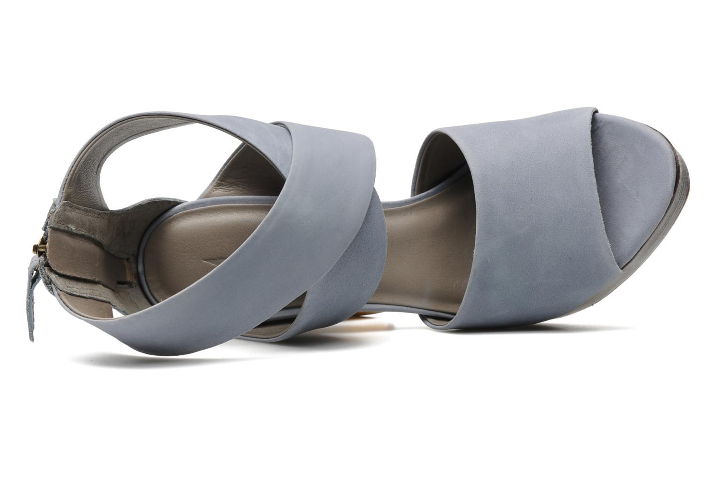 Sandales et nu-pieds Skin by Finsk LERMAPE Bleu vue gauche