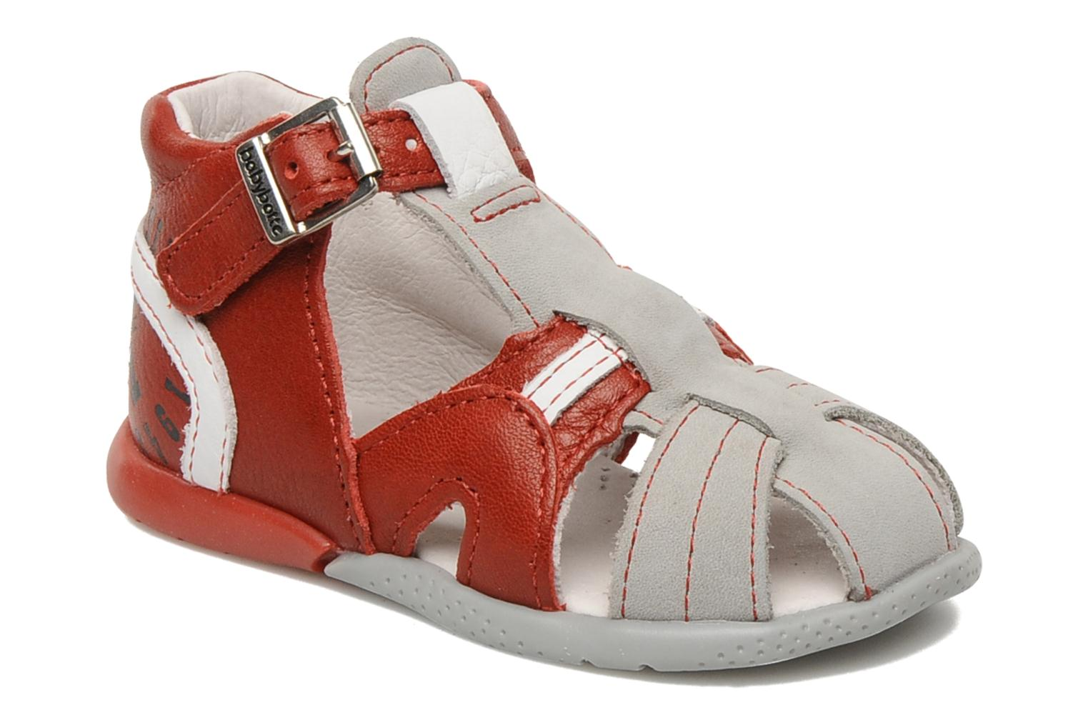 Sandals Babybotte Gilou Red detailed view/ Pair view