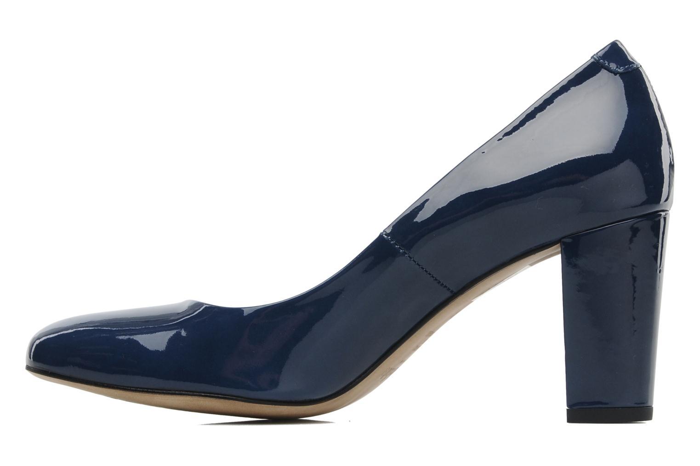 Zapatos de tacón Perlato Paty Azul vista de frente
