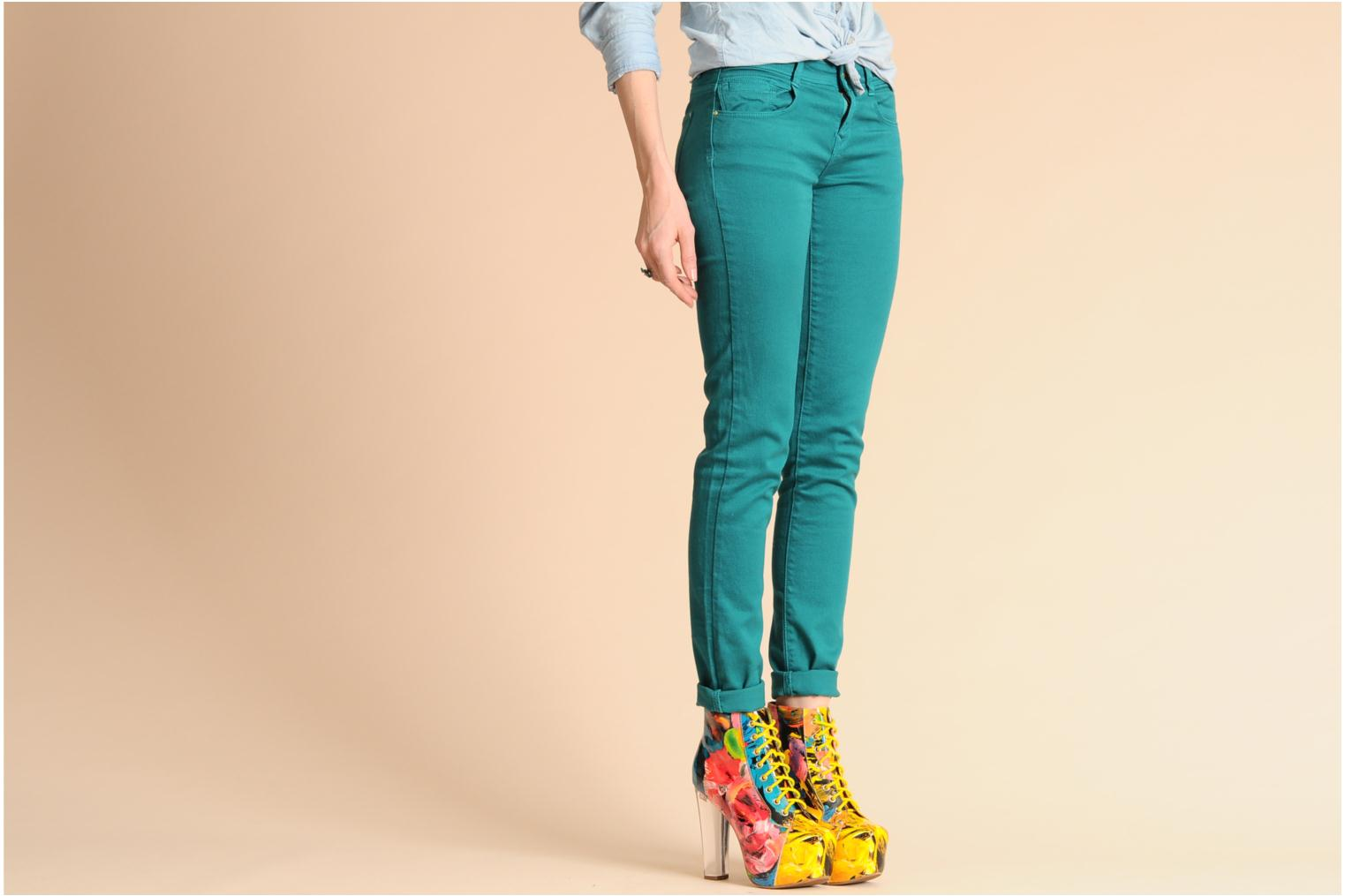 Ankle boots Jeffrey Campbell Lita Lights Multicolor view from underneath / model view