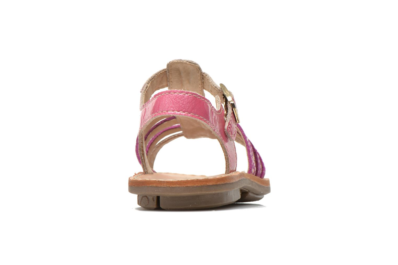 Sandales et nu-pieds Minibel Chana Rose vue droite