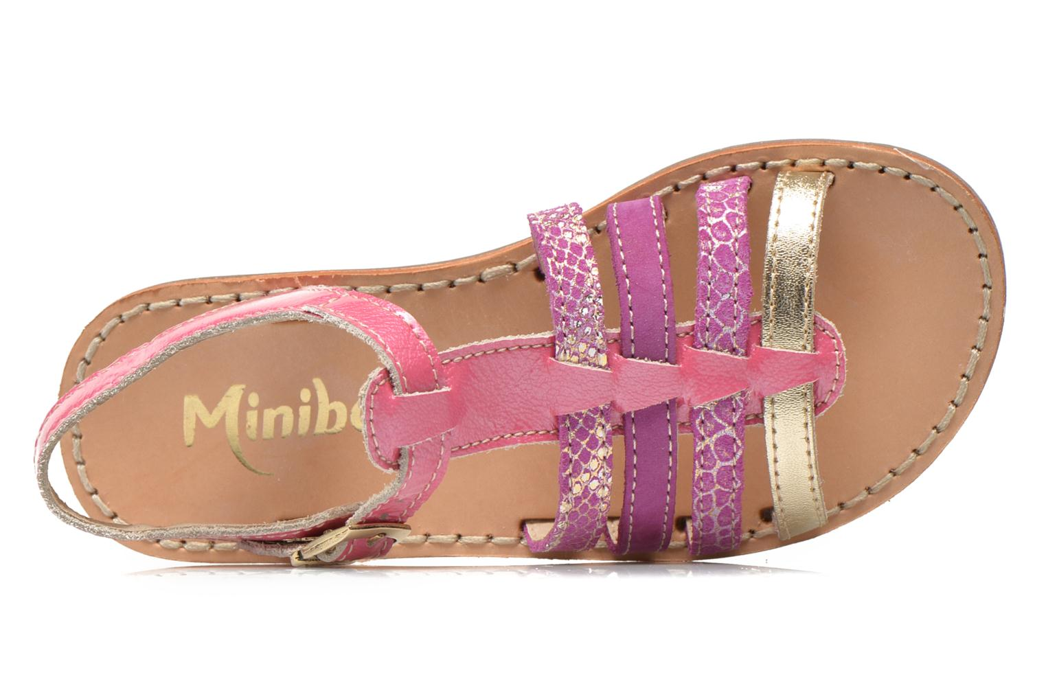 Sandalen Minibel Chana Roze links