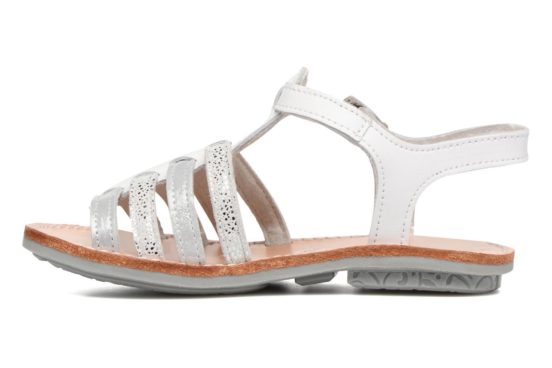 Sandalen Minibel Chana weiß ansicht von vorne