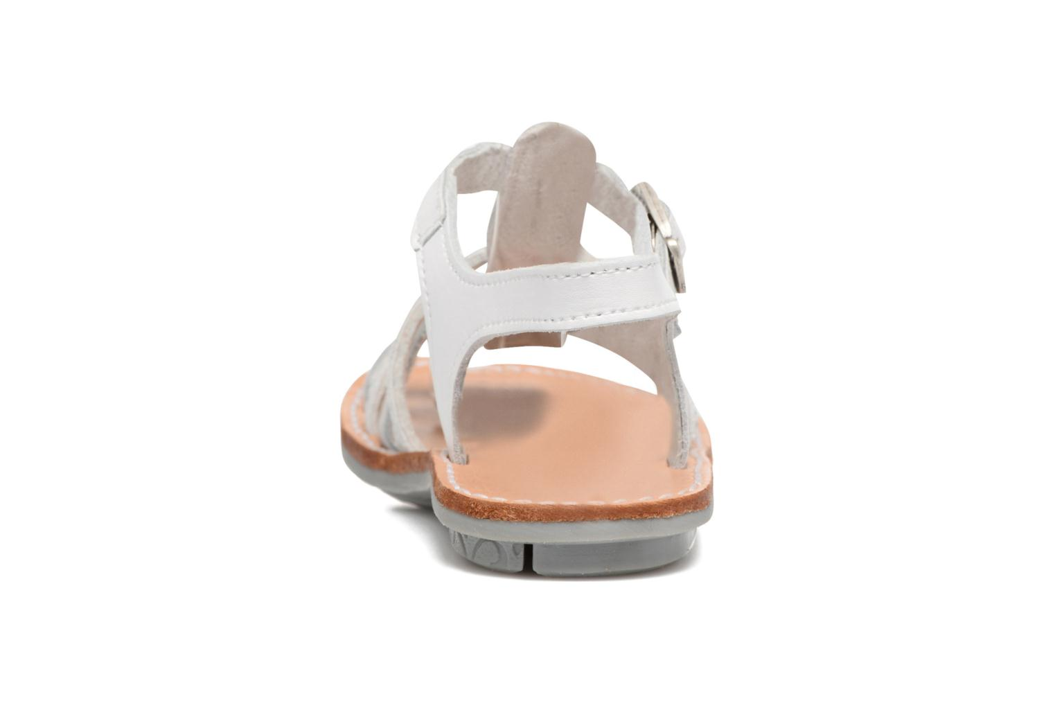 Sandals Minibel Chana White view from the right