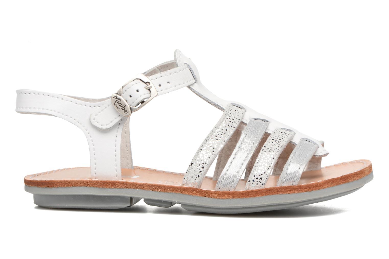 Sandalen Minibel Chana weiß ansicht von hinten