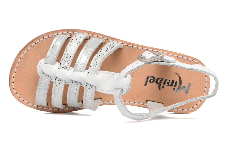 Sandales et nu-pieds Minibel Chana Blanc vue gauche