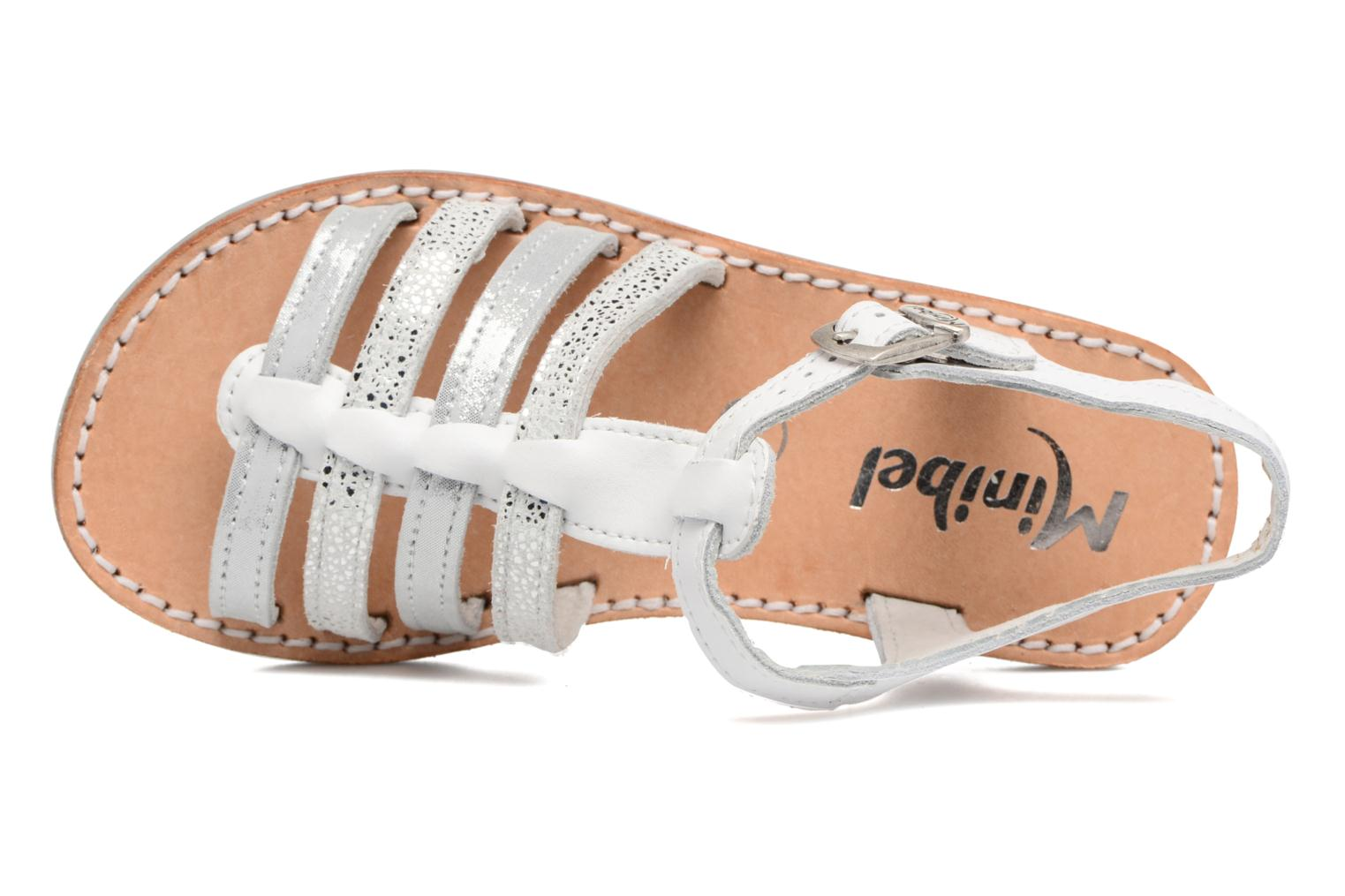 Sandals Minibel Chana White view from the left