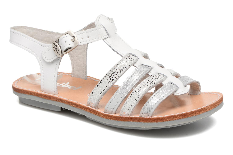 Sandals Minibel Chana White detailed view/ Pair view
