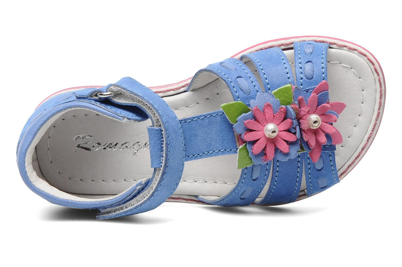 Sandals Romagnoli Ninon Blue view from the left