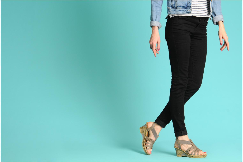 Sandales et nu-pieds I Love Shoes Suzanne Beige vue bas / vue portée sac