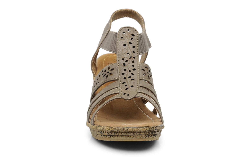 Sandales et nu-pieds I Love Shoes Suzanne Beige vue portées chaussures
