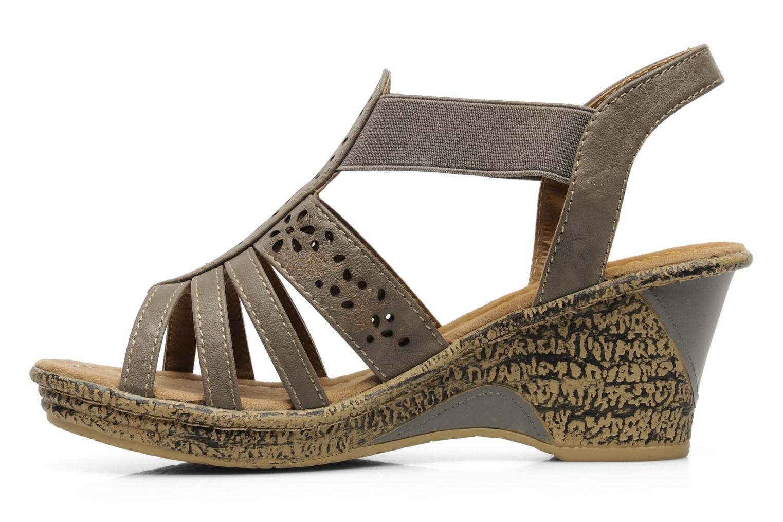 Sandales et nu-pieds I Love Shoes Suzanne Beige vue face